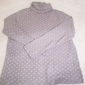 Liz Claiborne Polka Dot Long Sleeve Turtleneck